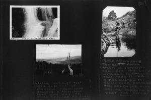 Boy Scouts biking through the Rakauwhakahue Stream, and landscape views