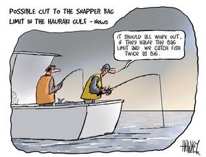 """Hawkey, Allan Charles, 1941- :""""It should all work out, if they have the bag limit and we catch fish twice as big."""" 18 June 2013"""