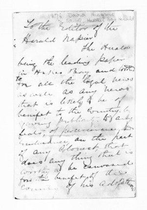 Inward letters - Surnames, Hew - Hil
