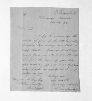 Inward letters - C Marshall