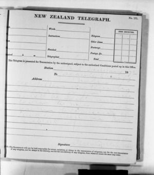 Native Minister and Minister of Colonial Defence - Outward telegrams