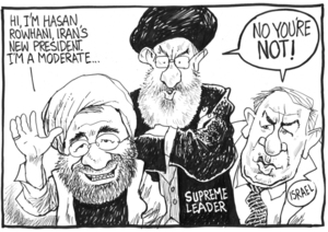 "Scott, Thomas, 1947- :""Hi, I'm Hasan Rowhani, Iran's new President. I'm a moderate."" 20 June 2013"
