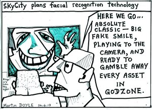 Doyle, Martin, 1956- :Skycity plans facial recognition technology. 26 June 2013
