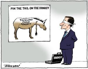 Tremain, Garrick, 1941- :Pin the tail on the donkey. 17 May 2013