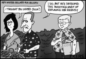 Ekers, Paul, 1961-:Key invites Gillard for holiday. 1 July 2013