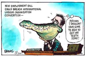 Evans, Malcolm Paul, 1945- :Employment Bill Breaches ILO Convention. 21 July 2013