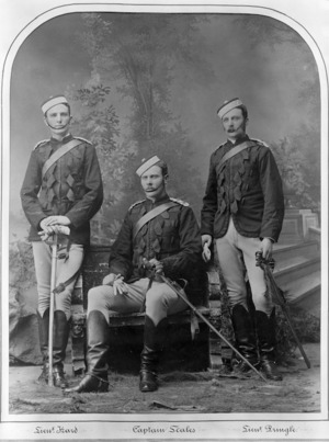 Three soldiers of the Heretaunga Light Horse