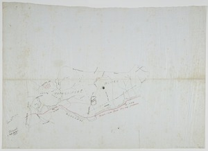 [Harsd, N, fl 1914 ]:[Proposed railway track through Whangaipeke Block, Piopiotea and Maungaku survey districts] [ms map]. 1914