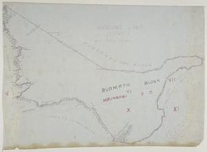 [Creator unknown] :[Raumata Block, Maungaku Survey District, near Taumarunui] [ms map]. 1921.