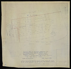 Sandel & Withers (Firm) :Scheme plan of proposed subdivision of pt. Pukawa 4C3, Blk III Puketi S.D., Wellington Land Dist., Taumarunui County [map with ms annotations]. Prepared by Sandel & Withers, Regd. Surveyors, Taumarunui, for Kahu Te Kuru, owner, August 1963
