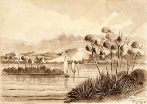 Fraser, I T[allon?] B, fl 1860s :Near Rangariri. Waikato River / I. T. B. F.