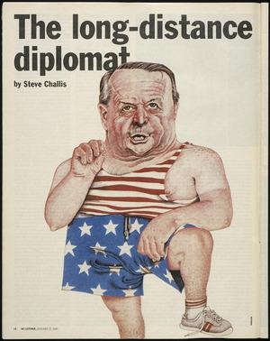Hodgson, Trace 1958- :[Bill Rowling as New Zealand Ambassador to the United States]. New Zealand Listener, 17 January 1987.