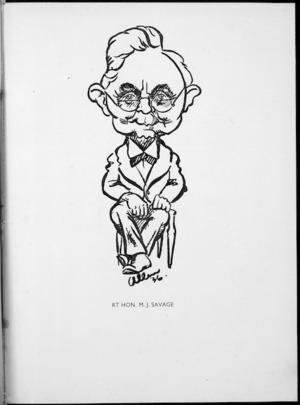 Allen, J. T. :Rt Hon. M. J. Savage. Parliamentary Portraits, 1936.