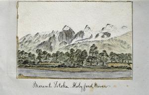 Douglas, Charles Edward, 1840-1916 :Mount Totoka. Holyford River. [1870-1900]