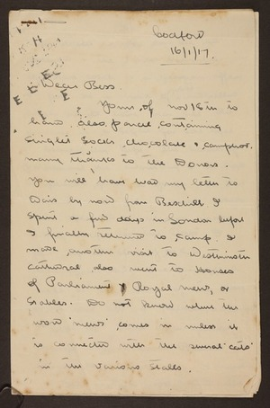 World War One letters
