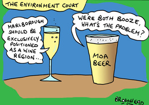 """Bromhead, Peter, 1933-:Marlborough should be exclusively positioned as a wine region..."""" 6 September 2013"""