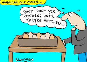 """Bromhead, Peter, 1933-:""""Don't count yer chickens until they're hatched.."""" 10 September 2013"""