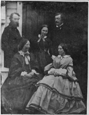 Group comprising Frederick Weld, Filumena Weld, Frances Louisa Tollemache, Sir Charles Clifford and Jessie Cruickshank Crawford