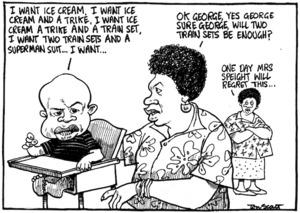 Scott, Thomas 1947- :One day Mrs Speight will regret this... Evening Post, 2 June 2000.