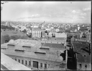 Auckland city, viewed from the Grand Hotel