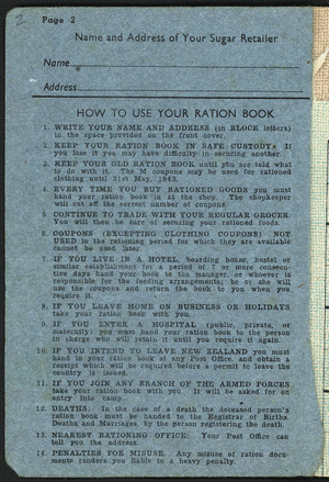 Paybooks and ration books