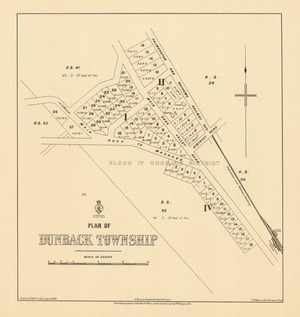 Plan of Dunback township [electronic resource] / drawn by H. McCardell, August 1893 ; A. Barron, superintending surveyor.
