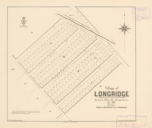 Village of Longridge [electronic resource] / surveyed by William Hay, assistant surveyor, May 1880 ; drawn by James Fraser.