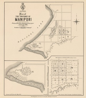 Plan of the Township of Manipori [electronic resource] / James Blaikie, assistant surveyor; drawn by W. Deverell.