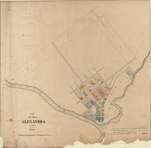 Plan of the town of Alexandra [electronic resource] / J.A. Connell, surveyor, Mar. 1863.