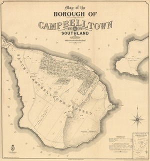 Map of the Borough of Campbelltown, Southland [electronic resource] drawn by J.C. Potter, March 1907.