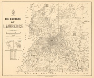 The environs of Lawrence [electronic resource] / drawn by G.P. Wilson
