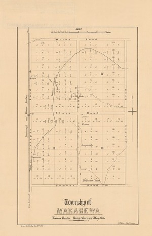 Township of Makarewa [electronic resource] / Norman Prentice, District Surveyor ; drawn by John Hay.