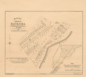Blocks 1 to 6, township of Mataura [electronic resource] / G.F. Richardson, Surveyor Novr, 1874 ; drawn by F.W.