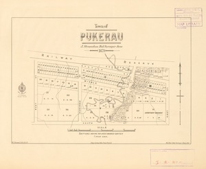 Town of Pukerau [electronic resource] / J. Strauchon, Dist. Surveyor, June 1879.