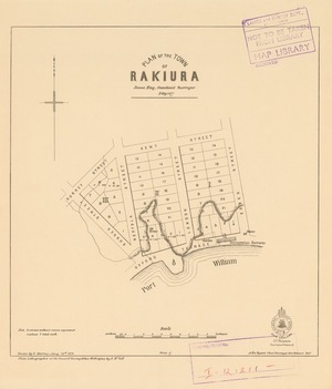 Plan of the town of Rakiura [electronic resource] / James Hay, Assistant Surveyor, Feby 1877 ; drawn by G. Murray, Janry, 28th 1878.