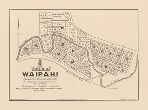 Town of Waipahi [electronic resource] / surveyed by T.H. Johnstone Feby 1876, W.J. Hall 1877 & J. Strauchon Oct. 1885 ; W.J. Percival, delt 19.2.86.