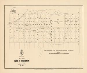 Plan of the town of Rangiwahia [electronic resource] / A.E. Ashcroft, assistant surveyor, May 1887 ; J.W.A. Marchant, chief surveyor, Wellington