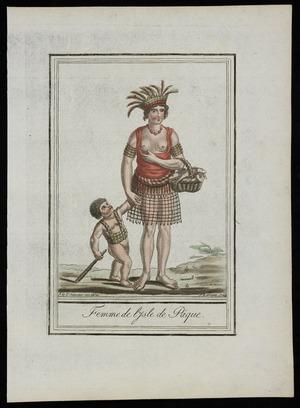 Grasset de Saint-Sauveur, Jacques, 1757-1810 :Femme de l'Isle de Paque. J G St Sauveur inv. direx; J Laroque sculp. [Paris, 1796?]