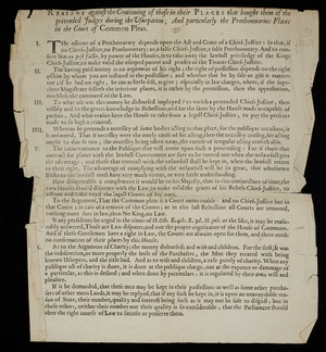 Reasons against the continuing of those in their places that bought them of the pretended judges during the usurpation; and particularly the Prothonotaries Places in the court of common pleas.