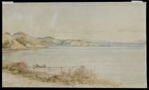Barraud, Charles Decimus, 1822-1897 :Nelson from the Wakapuwaka Road. April 1888