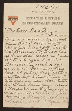 Letters written during World War One