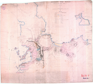 Heaphy, Charles 1820-1881 :Coromandel gold district distinguishing the apparent geological formations, etc [ms map]. 1857