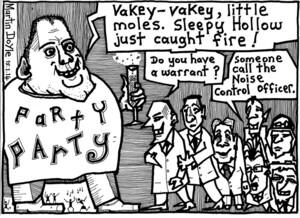 Doyle, Martin, 1956- :Party Party with Kim. 15 January 2014