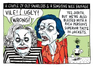 Murdoch, Sharon Gay, 1960- :A couple of old snarlers & a sensitive wee sausage. 5 February 2014