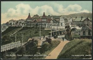 [Postcard]. Kelburn tram terminus, Wellington, N.Z. / F. G. Radcliffe photo[grapher. ca 1910].