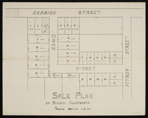 [Creator unknown] :Sale plan of building allotments [ms map]. [193-?].