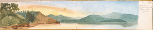 [Ashworth, Edward] 1814-1896 :Manukao Harbour looking north between Orua and Awhitoo. [1843]