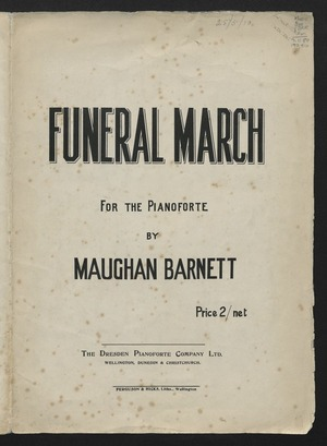 Funeral march : for the pianoforte / by Maughan Barnett.