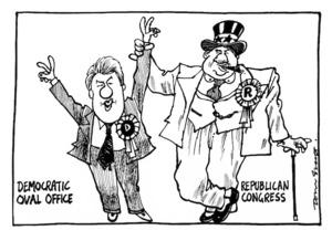Scott, Tom, 1947- :Democratic Oval Office, Republican Congress. [7 July 1996].