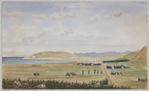 Welch, Joseph Sandell, 1841-1918 :Oamaru, from Pukeuri Point [1870s]